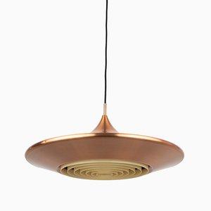 Dänische Kuli Deckenlampe von Ejnar B. Mielby für Lyfa, 1960er
