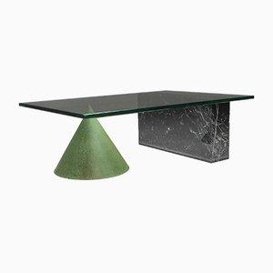 Tavolino da caffè Kono in marmo e rame di Lella & Massimo Vignelli, 1985