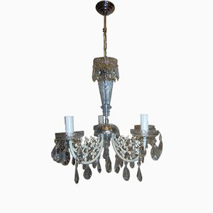 Mid-Century Crystal Chandelier, 1960s or 1970s