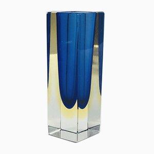 Sommerso Murano Glass Vase, 1970s