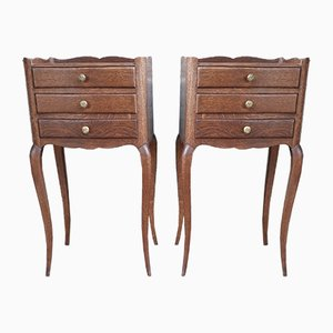 Louis XV Style Nightstands, 1950s, Set of 2