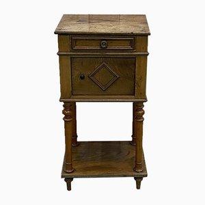 Comodino vintage in legno di castagno, inizio XX secolo