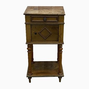 Vintage Chestnut Nightstand, Early 1900s