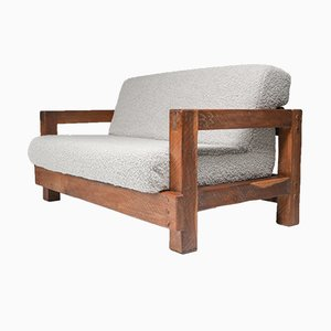Modern Rustic Bouclé Sofa by Pierre Frey, 1960s