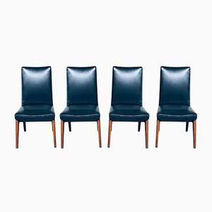 Mid-Century Modern Belgian Rosewood Office Chairs, 1950s, Set of 4