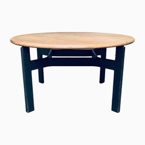 Mid-Century Modern Scandinavian Round Wooden Dining Table, 1970s