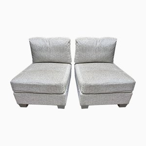 Armenio Paris Upholstered Lounge Chairs, 2010, Set of 2
