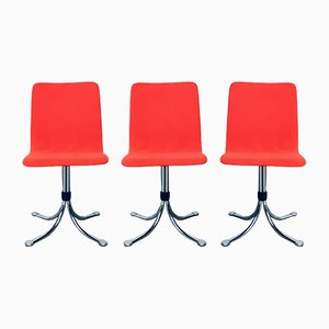 Mid-Century Dutch Steel Dining Chairs from Brabantia, 1970s, Set of 3