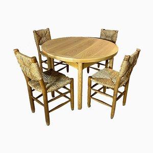 Tavolo da pranzo di Charlotte Perriand per Sentou, anni '60