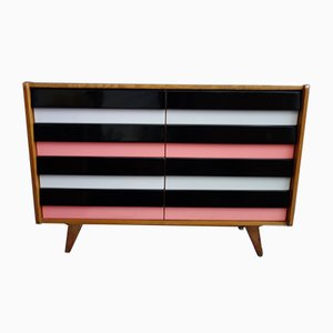 U450 Sideboard with Pink Drawers by Jiří Jiroutek for Interier Praha, 1960s