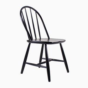 Schwarzer Beistellstuhl von Lucian Ercolani für Ercol, 1960er