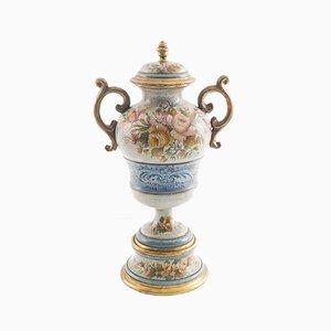 Vaso grande floreale e dorato di G. Nico per Bassano, inizio XIX secolo