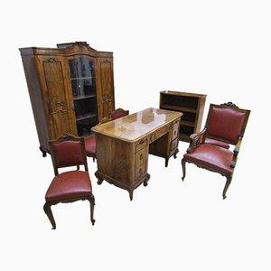 Antike Büromöbel von Chippendale, 8er Set