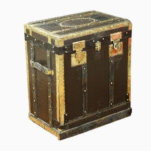 Baule in stile Lavolaille nero, anni '20
