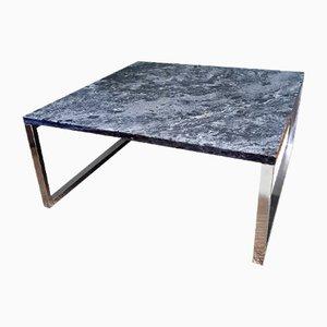 Vintage Square Design Coffee Table with Quartz Top