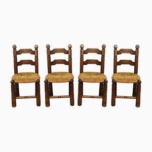 Beistellstühle im Stil von Charles Dudouyt, 4er Set