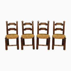 Chaises d'Appoint de Style Charles Dudouyt, Set de 4