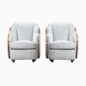 Art Deco Cloud Back Armchairs by Harry and Lou Epstein, 1930s, Set of 2