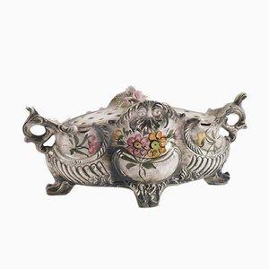 Centrotavola antico in ceramica di Manifattura di Faenza, anni '30