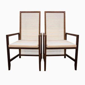 Vintage Teak & Holz Esszimmerstühle von Pierantonio Bonacina, 2er Set