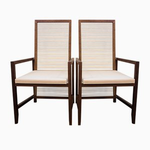 Vintage Teak & Wood Dining Chairs from Pierantonio Bonacina, Set of 2