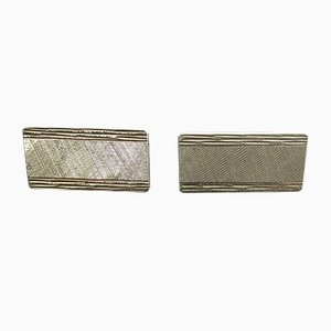 Rectangular Gold Cufflinks, 1960s, Set of 2