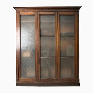 Antique 6-Door Museum Showcase Cabinet