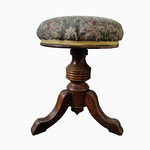 Antique Victorian Rise & Fall Piano Stool