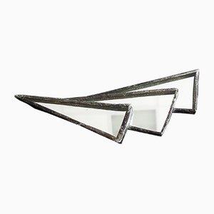 Broche abstracto Art Déco abstracto con espejo, años 30
