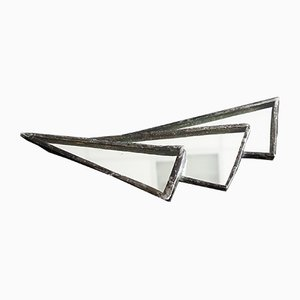 Large Art Deco Abstract Mirrored Brooch, 1930s