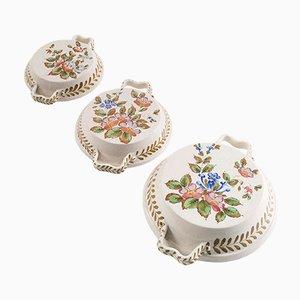 Piatti in ceramica multicolore di Ceramiche e Porcellane Moretti, 1934, set di 4