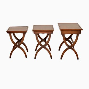 Regency Style Nesting Tables, 1950s, Set of 3