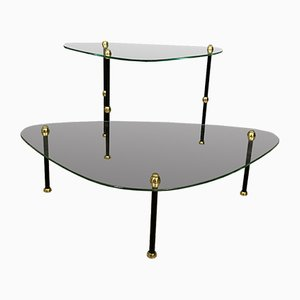 Paint Palette-Shaped Glass Side Tables, 1950s, Set of 2