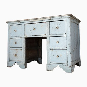 Italian Chestnut Worktable with Drawers, Early 1800s