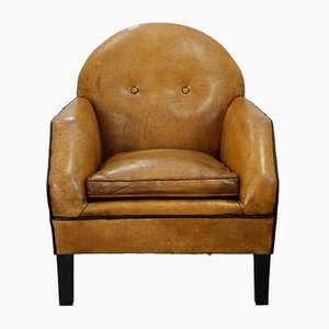 Leather Lounge Chair by Bart van Bekhoven, 1970s