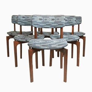 Gepolsterte Esszimmerstühle, 1960er, 6er Set
