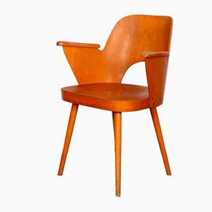 Wooden Armchair by Lubomir Hofmann for TON, 1960s