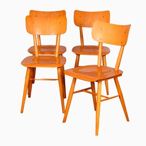 Wooden Dining Chairs from TON, 1960s, Set of 4