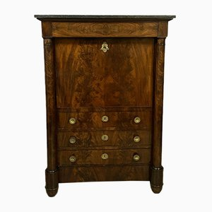 Empire Period Flamed Mahogany Secretaire, 1810s