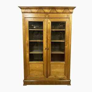 Large Louis Philippe Walnut Bookcase, 1830s