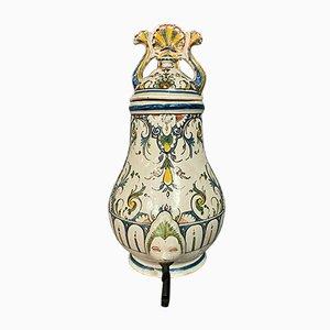 Rouen Hand-Painted Ceramic Fountain Element, 1800s