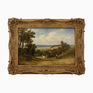 Britisches Ölgemälde von Alfred Vickers, On The Medway, 19. Jh