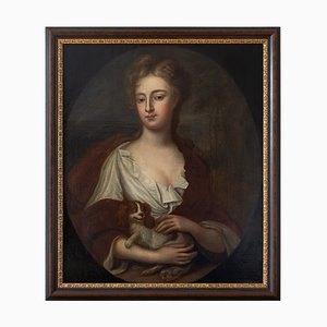 Retrato de una pintura al óleo británica de Sarah Churchill, duquesa de Marlborough, finales del siglo XVII
