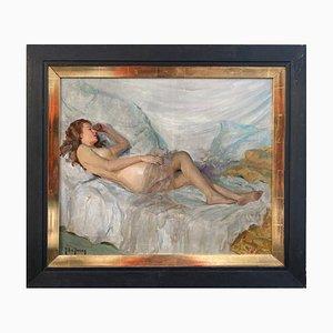Guy De Jessy, Reclining Beauty, Painting