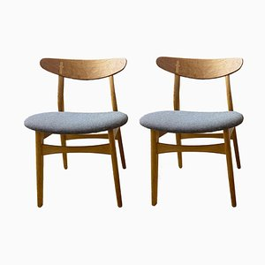 Dining Chairs by Hans Wegner for Carl Hansen & Søn, 1950s, Set of 3