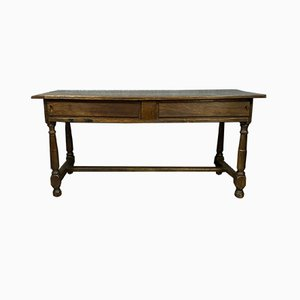 Louis XIII Solid Oak Sliding Farmhouse Table, 1690s