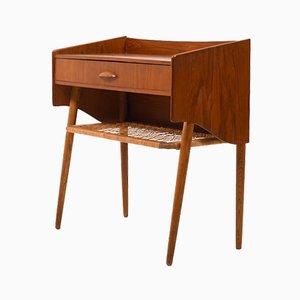Danish Teak & Oak Side Table with Drawer, 1950s