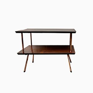 Mid-Century Rosewood Two-Tier Side Table