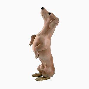 Begging Dachshund Porcelain Figure from Bing & Grøndahl, 1920s