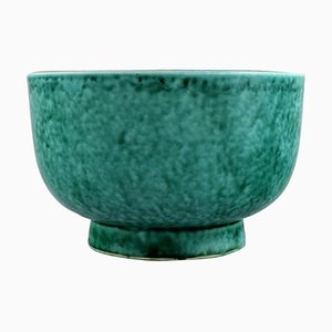 Argenta Art Deco Schale aus glasierter Keramik von Wilhelm Kage für Gustavsberg